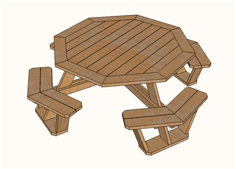 Octagon Picnic Table Plans Free Download