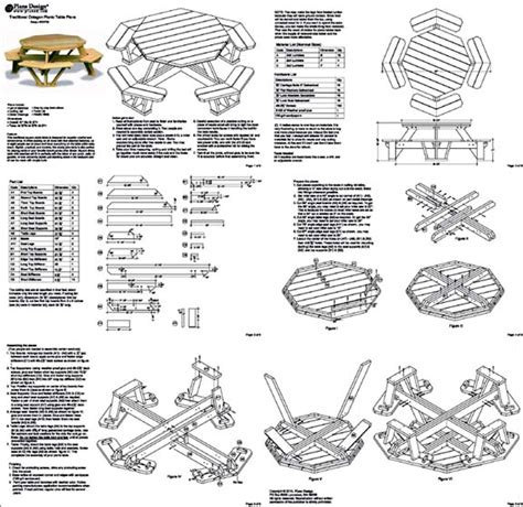 Octagon Picnic Table Plans Material List