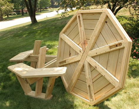 Octagon picnic table plans free Image