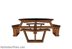 Octagon picnic table.aspx Image