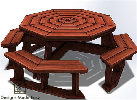 Octagon-Picnic-Table-Plans-Download