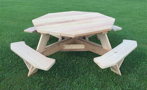 Octagon-Picnic-Table-Plans-For-Sale