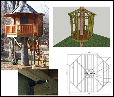 Octagon-Treehouse-Plans