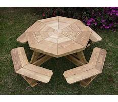 Best Octagon wooden picnic table plans