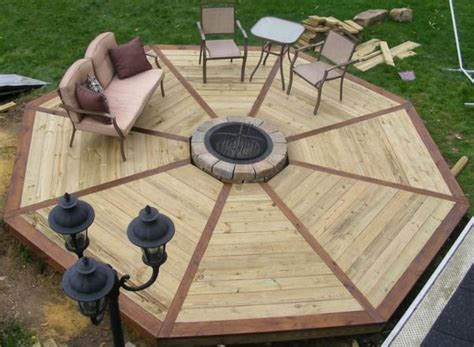 Octagonal-Wood-Patio-Plans