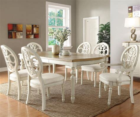 Off White Dining Table And Chairs
