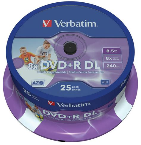 Office Depot Double Layer DVD+R DL Blank DVD Recordable Media (25 Pack)
