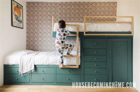Offset Bunk Bed Plans