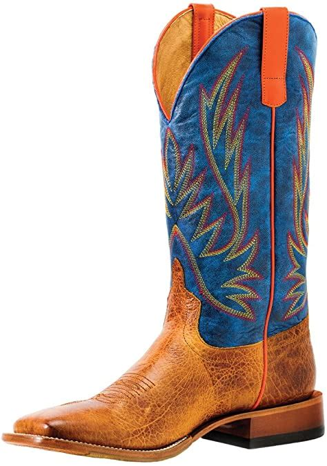 Olathe Horse Power by Anderson Bean HP1828 Havana Bullfrog Blue Jean Baby Square Toe Boots (9)