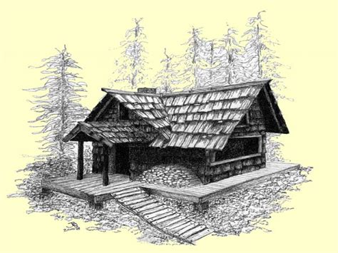 Old Cabin Drawings