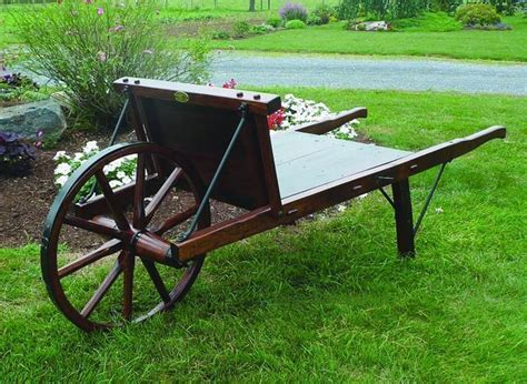 Old Fashioned Wooden Wheelbarrows For Sale