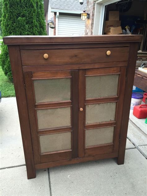 Old Metal Pie Safes Cabinet
