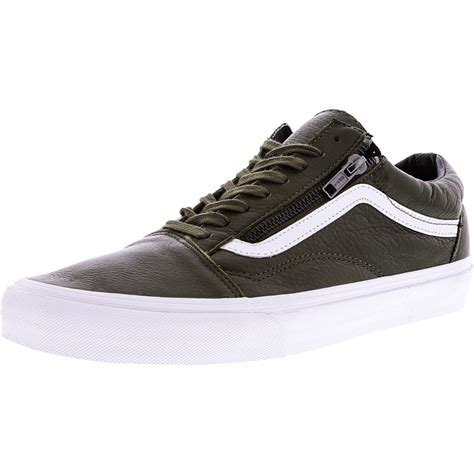 Old Skool Zip Antique Silver Ankle-High Leather Skateboarding Shoe