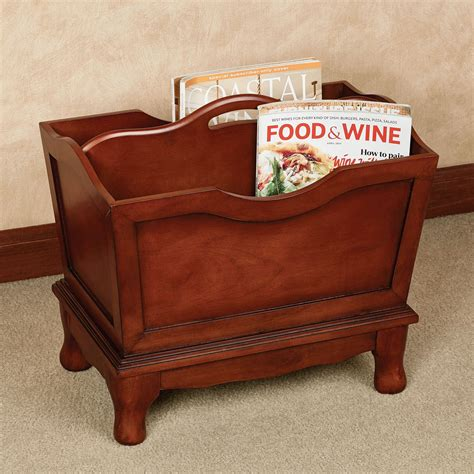 Old Wooden Magazine Holder