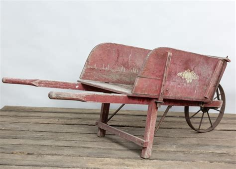 Old Wooden Wheelbarrow For Sale