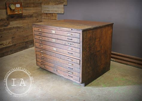 Old-Cabinet-With-Large-Flat-Drawers-For-Plans
