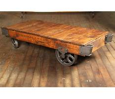 Best Old wooden industrial cart coffee table