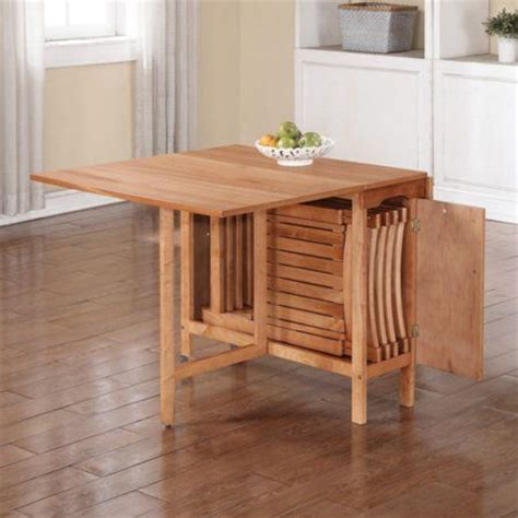 Olding Dining Set With Self Storing Chairs