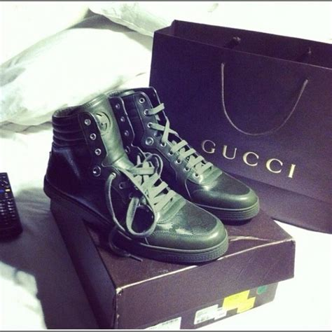 Olive Green Gucci Sneakers