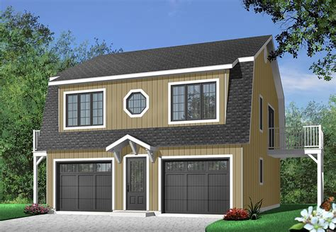One Level Two Car Garage With Apartment Plans