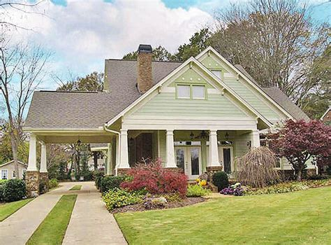 One Story Detached Garage House Plans