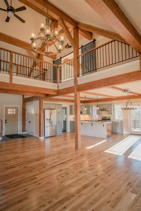 One Story Post And Beam Plans Timber