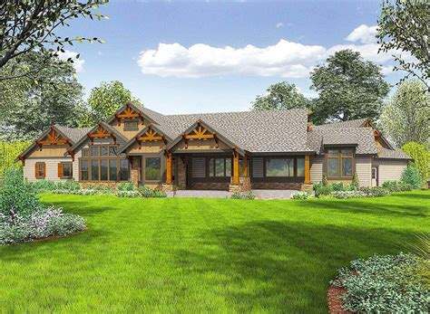 One Story Ranch Mountain House Plans