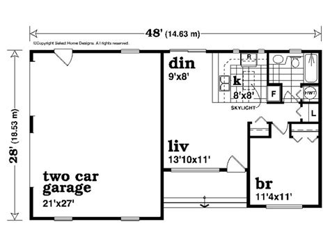 One Story Shop Apartment Plans