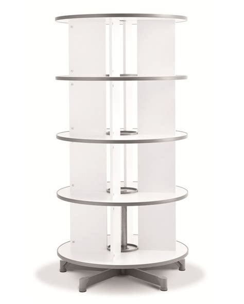 One Turn Binder And File Carousel 62 H Four Tier Shelving
