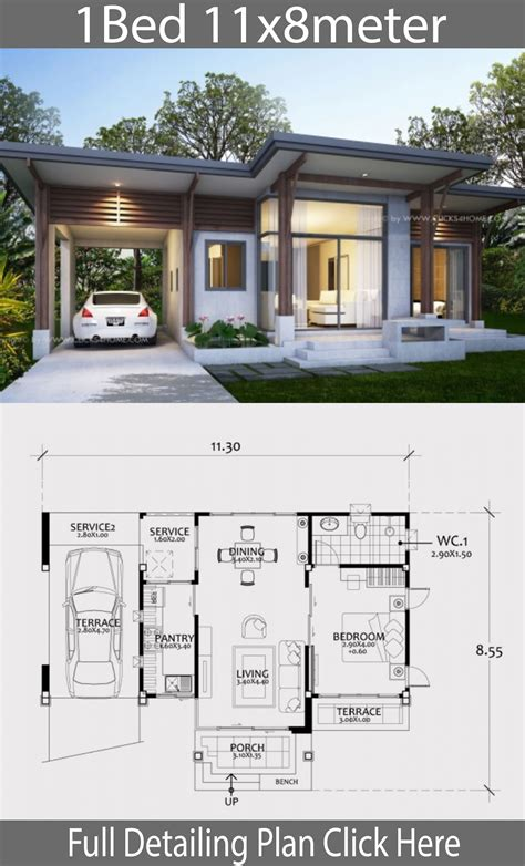 One-Bed-House-Plans