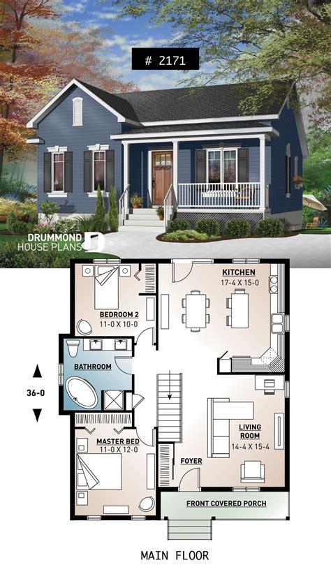 One-Level-Tiny-House-Plans
