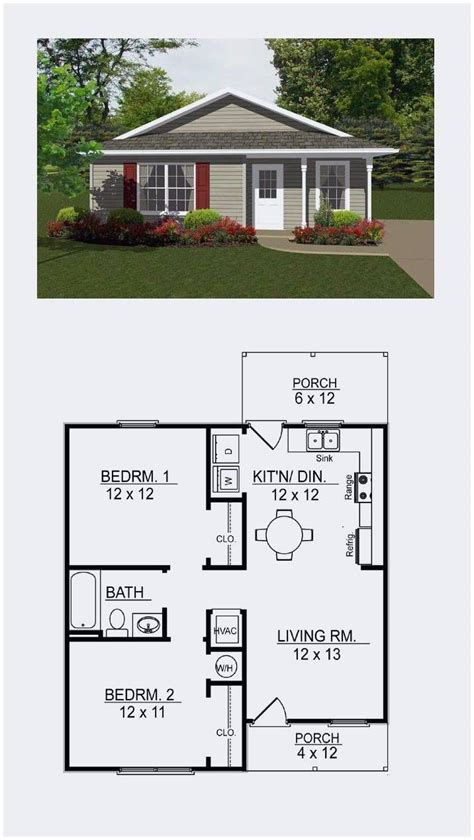 One-Story-2-Bedroom-Floor-Plans-For-Tiny-Houses