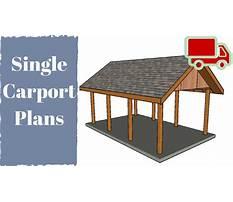 Best One car carport plans