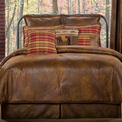 Online Faux Leather Comforter