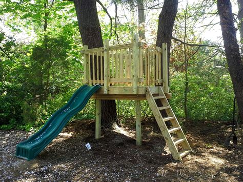 Open Backyard Clubhouse Plans With Zip Lines