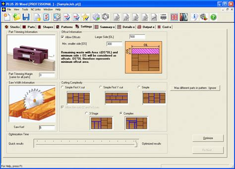 Optimization Software For Woodworking