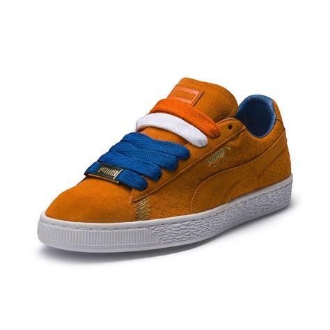 Orange Suede Puma Sneakers