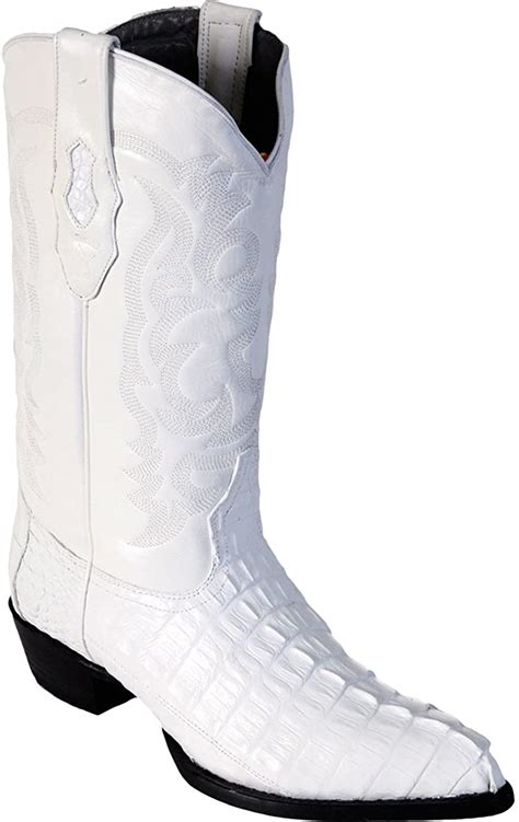 Original White Caiman (Gator) Tail LeatherJ-Toe Boot