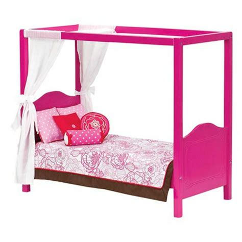 Our Generation Canopy Bed For 18 Inch Doll