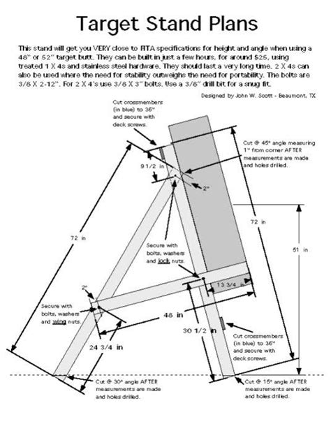 Outdoor Archery Target Stand Plans