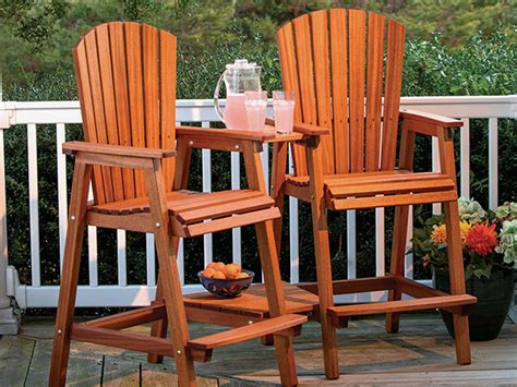 Outdoor Bar Height Chair Plans