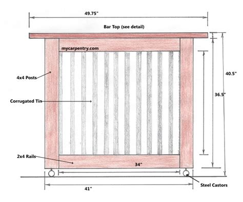 Outdoor Bar Plans Dimensions