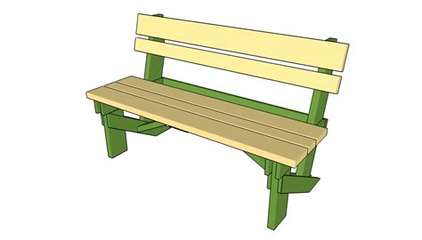Outdoor Bench With Backrest Plans
