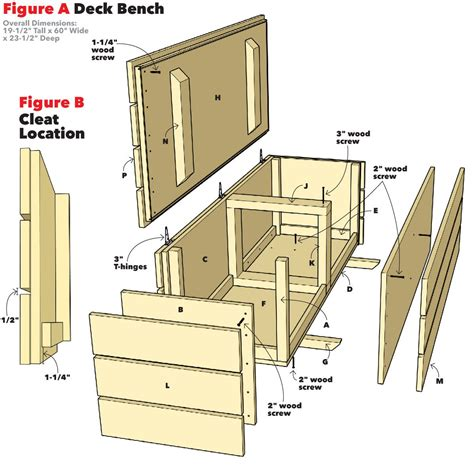 Outdoor Bench With Storage Waterproof Plans