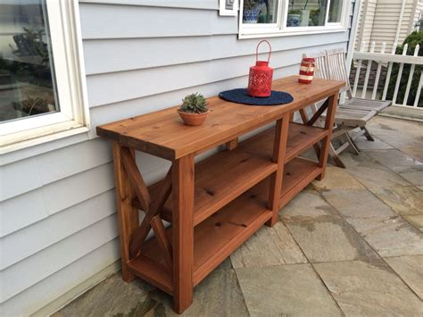 Outdoor Buffet Table Plans