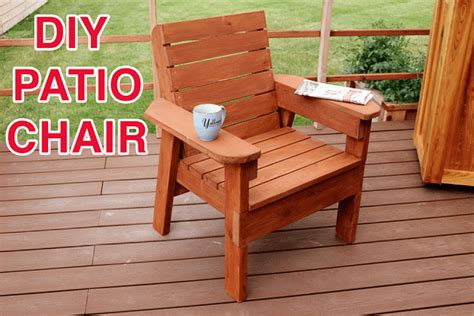 Outdoor Chair Plans Diy Wood