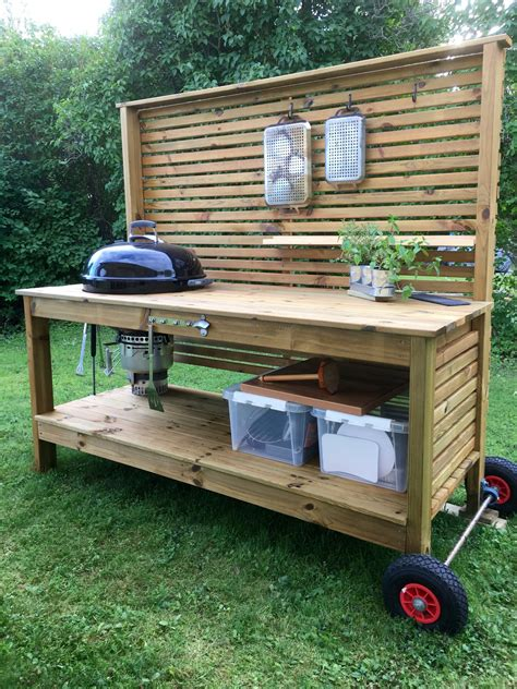 Outdoor Cooking Table Plans