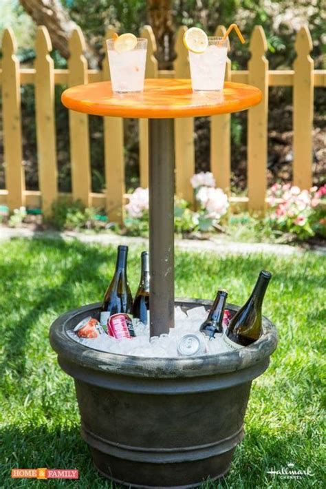 Outdoor Cooler Table Diy Favors