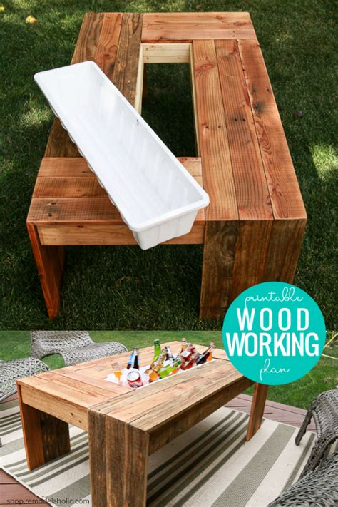 Outdoor Cooler Table Diy Plans
