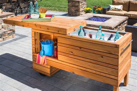 Outdoor Cooler Table Diy With Shelf